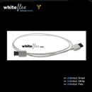 CF-66-010-WE: WHITEFLEX Firewire 400 cable 6 to 6 pins white + flexible 1m