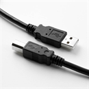 CU-2820-10: USB 2.0 cable AB with thicker power lines, PREMIUM+ certified, 1m