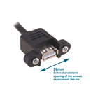 CU-VUP-10: Mountable USB cable Af Am right angled UP 1m