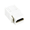 K-040-WE: HDMI snap-in adapter 2x HDMI-A female white