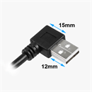CU-X-20L: USB extension cable AA 1x ANGLED LEFT 2m