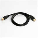 CU-10-BK: USB cable AB PREMIUM quality, gold plated plugs, black, 1m