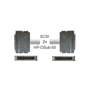 CS-036-05-M: SCSI II cable 2x HP-DB50 male with metal plugs 50cm
