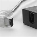 CF-66W-045: Firewire cable 6-6 1x right angled DOWN 4.5m