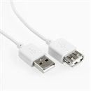CU-X-20-WE: WHITEFLEX USB extension cable AA 2m WHITE