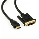 CD-HD-030: HDMI to DVI adapter cable, DVI plug type 18+1, 3m