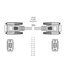 C2-09-03: Serial cable DB9 male to DB9 female, 3m, e.g. for RS232