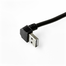 CU-ADN-05: Short USB cable with right angled plug A 90° DOWN to B straight 50cm