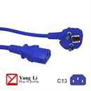CK3-EU-020-BE: BLUE power cord for Continental Europe CEE 7/7 E+F to C13 180cm