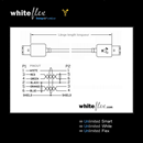 CF-66-005-WE: WHITEFLEX Firewire 400 cable 6 to 6 pins white + flexible 50cm