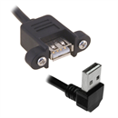 CU-VUP-03: Mountable USB cable Af Am right angled UP 30cm