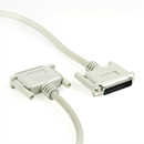 C1-25-03: Data cable 2x DB25 male with 1-to-1 connection 3m
