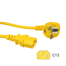 CK3-EU-050-YW: YELLOW power cord for Continental Europe CEE 7/7 E+F to C13 5m
