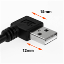 CU-X-10R: USB extension cable AA ANGLED RIGHT 1m