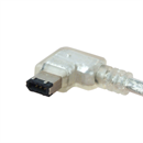 CF-66L-005: Firewire cable 6-to-6 1x right angled LEFT 50cm