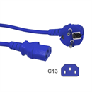 CK3-EU-050-BE: BLUE power cord for Continental Europe CEE 7/7 E+F to C13 5m