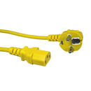 CK3-EU-020-YW: YELLOW power cord for Continental Europe CEE 7/7 E+F 90° to C13 180cm