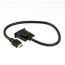 CD-HD-005: Short HDMI to DVI adapter cable, DVI plug type 18+1, 50cm