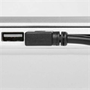 CU-AR-04-BK: Short USB 2.0 cable AB, plug A angled to the RIGHT, 40cm