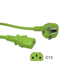 CK3-EU-050-GN: GREEN power cord for Continental Europe CEE 7/7 E+F to C13 5m