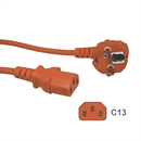 CK3-EU-020-OE: ORANGE power cord for Continental Europe CEE 7/7 E+F to C13 180cm